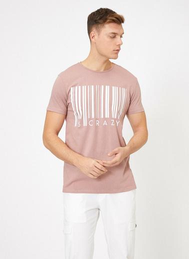 Koton Yazılı Baskılı T-Shirt Pembe